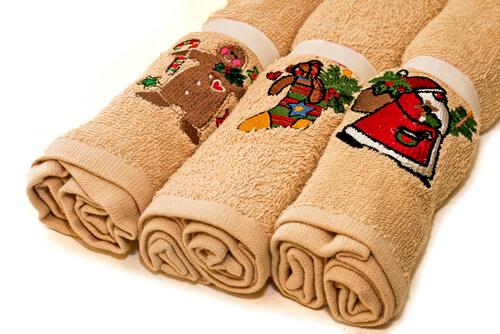 Christmas bath towels for students
