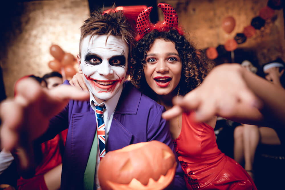 Joker and harley at halloween