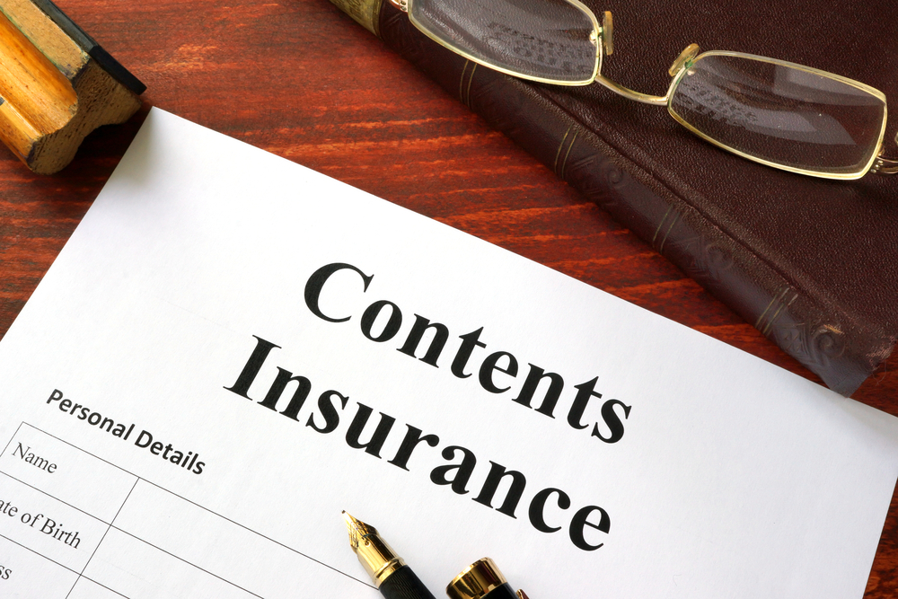 Contents insurance form