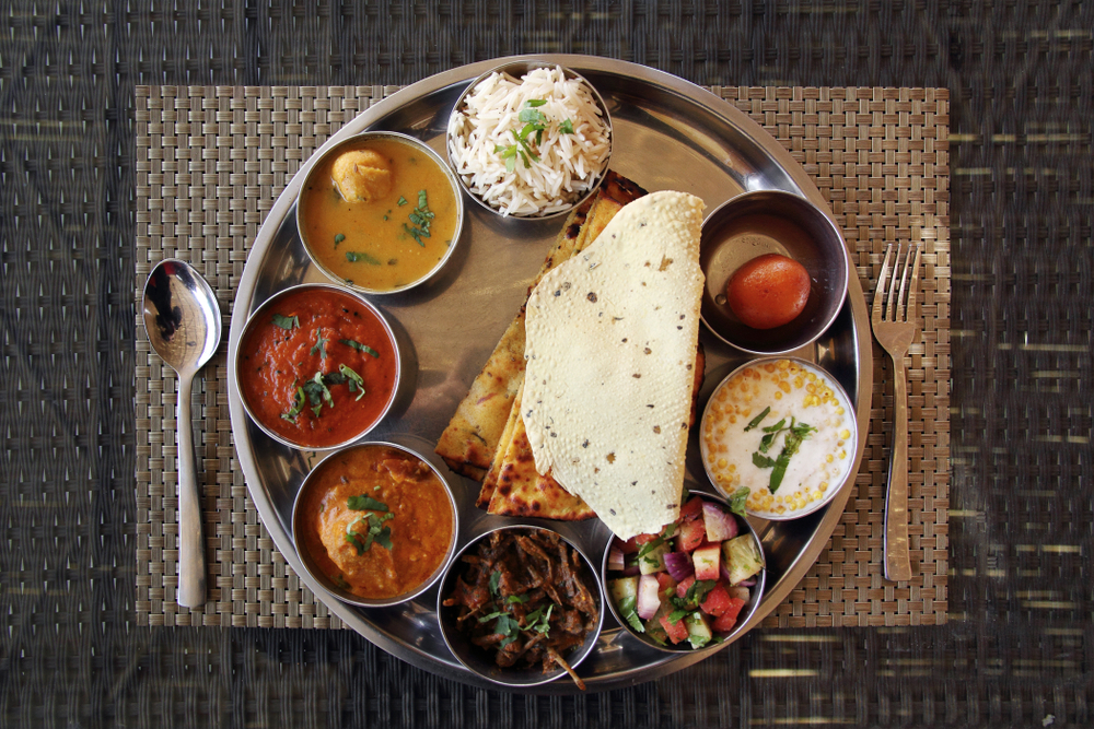 Indian thali rajasthani