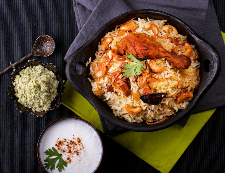 Delicious chicken biryani