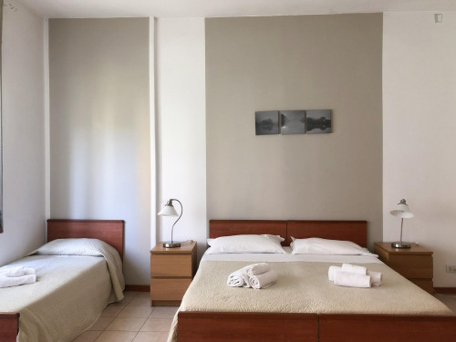 Studio apartment with big size bedroom, kitchenette and balcony.  - Gallery -  2