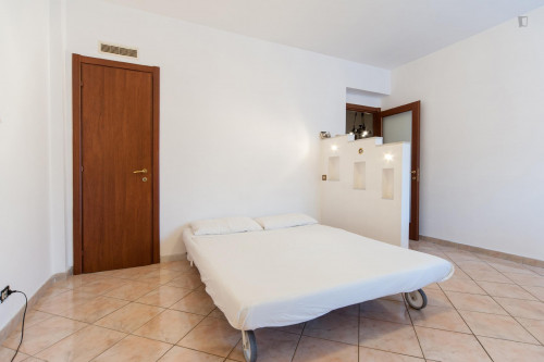 Wide and bright double bedroom in a 3-bedroom flat, near Largo Preneste  - Gallery -  1