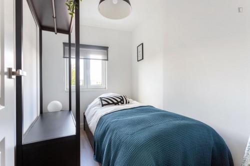 Comfy single bedroom in a 2-bedroom apartment near Rotterdam, Eudokiaplein tram stop