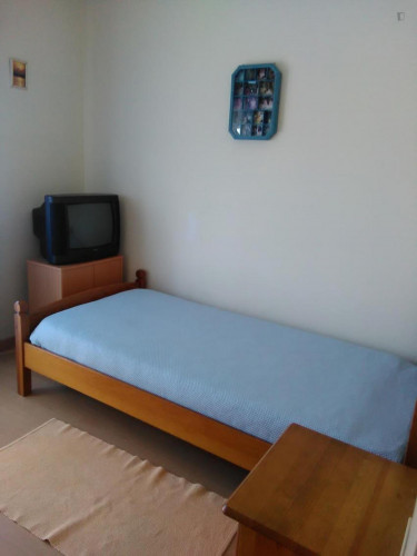 Comfy single bedroom in a 3-bedroom apartment in Seixal