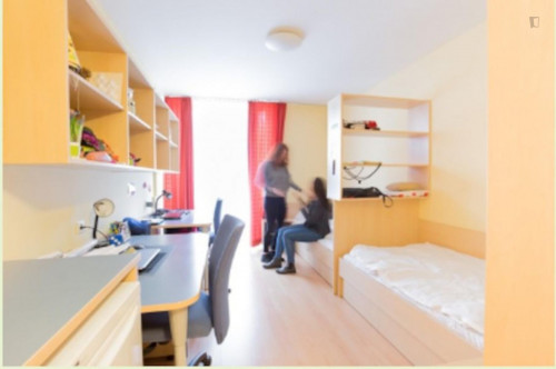 Single Bed in a twin bedroom, in a flat part of a residence in Mariahilf