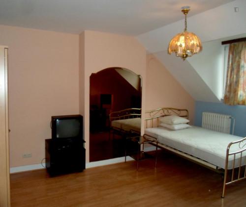 Vintage single bedroom in a residence near Lefrancq tram stop  - Gallery -  5