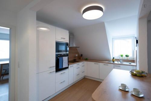 Wonderful single-bedroom in a shared flat in Stuttgart Mühlhausen, near Hofen subway station  - Gallery -  2