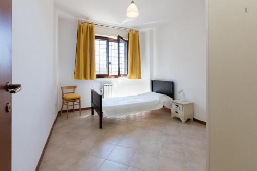 Bright and simple single bedroom in Municipio XIV