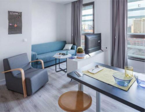 Sunny studio in a nice residence near Palau Reial metro stop  - Gallery -  2