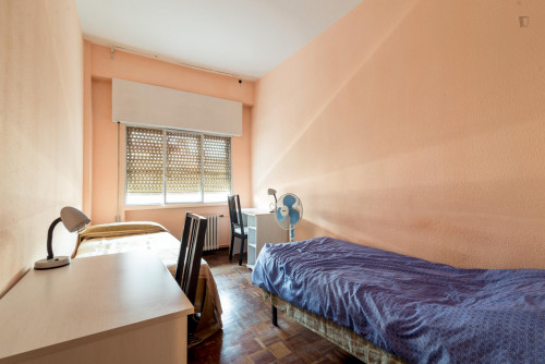 Twin bedroom in a spacious 4-bedroom flat in typical Vallehermoso  - Gallery -  2