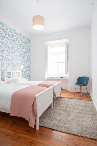 Twin bedroom near Campo Pequeno metro station  - Gallery -  1