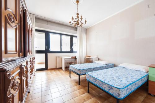 Wide single bedroom with a balcony, next to the Riserva Naturale del Laurentino Acqua Acetosa  - Gallery -  1