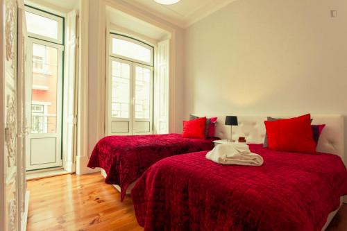Twin bedroom in apartment near Miradouro da Senhora do Monte  - Gallery -  1