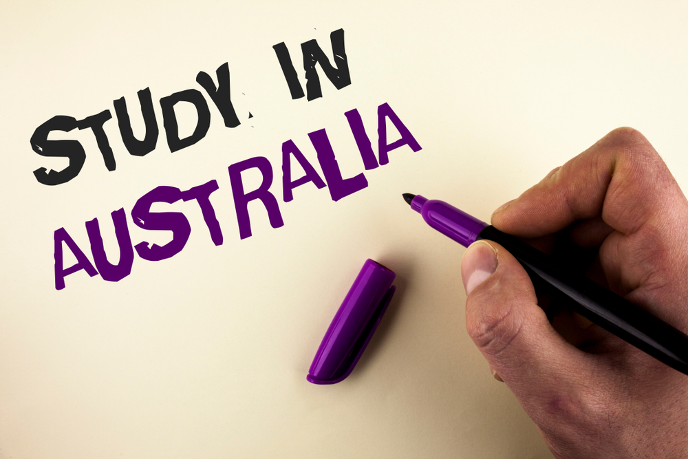 Study in Australia handwritten