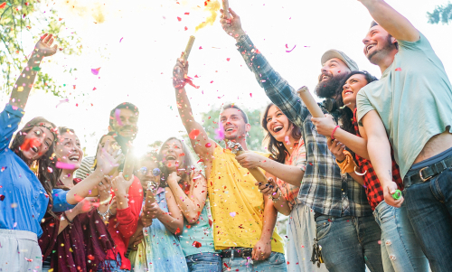 Students partying
