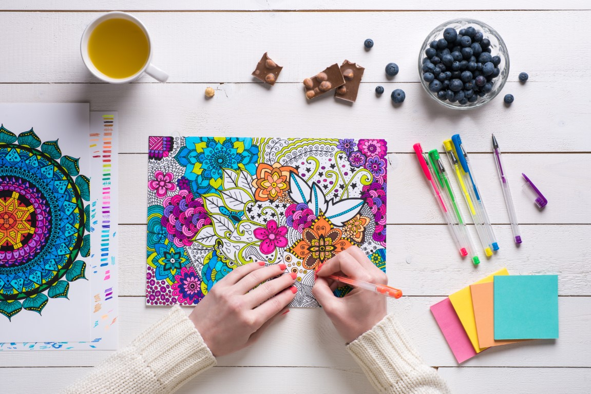 Try Adult Coloring Books