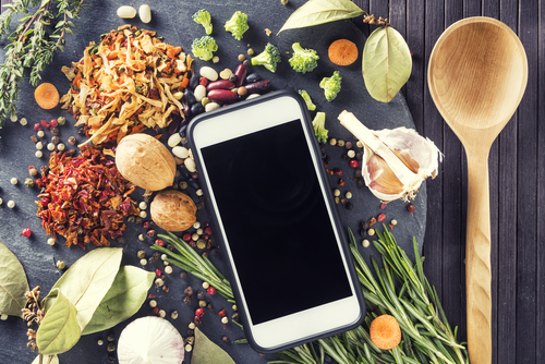 Cooking with the help of Mobile Phone