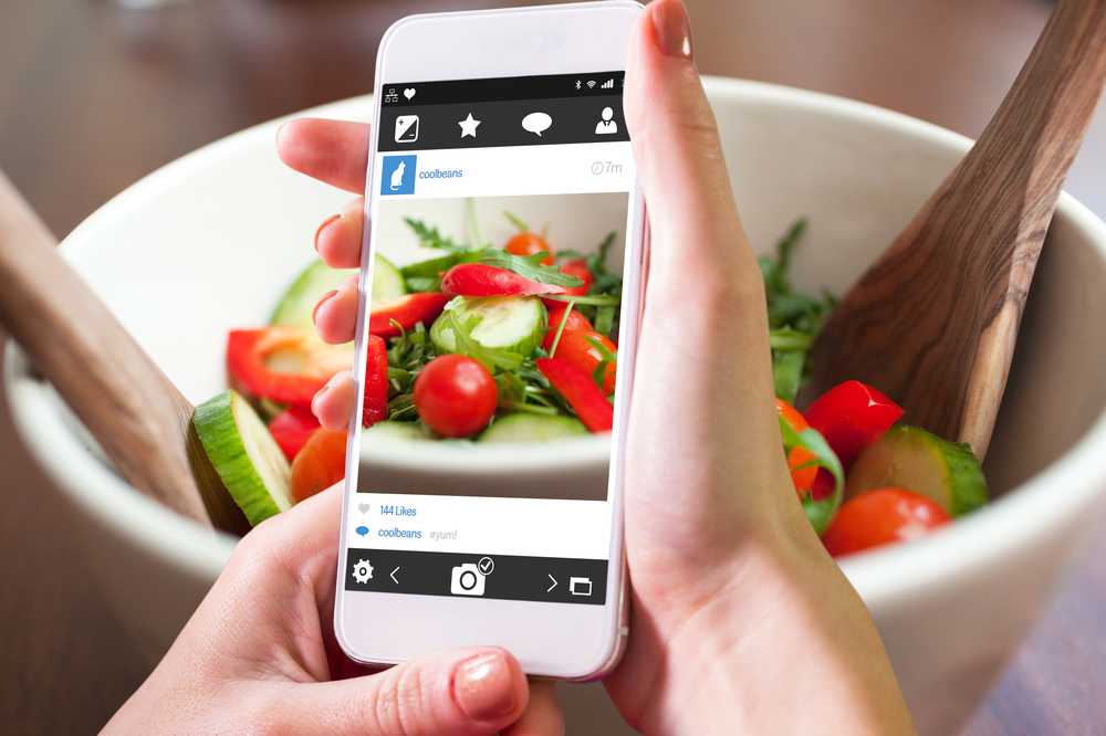 Taking a picture of a salad