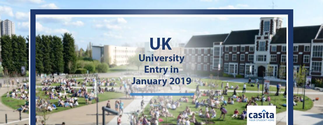 UK University Entry in January 2019